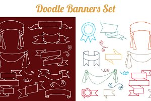 Doodle Banners Set