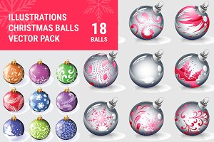 Christmas Balls Vector Pack