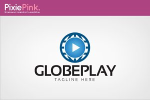 Globe Play Logo Template