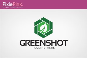 Green Shot Logo Template