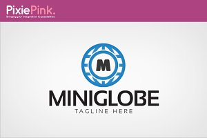 Mini Globe Logo Template