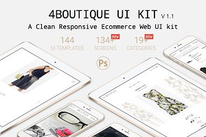 4Boutique Ecommerce UI KIT Psd