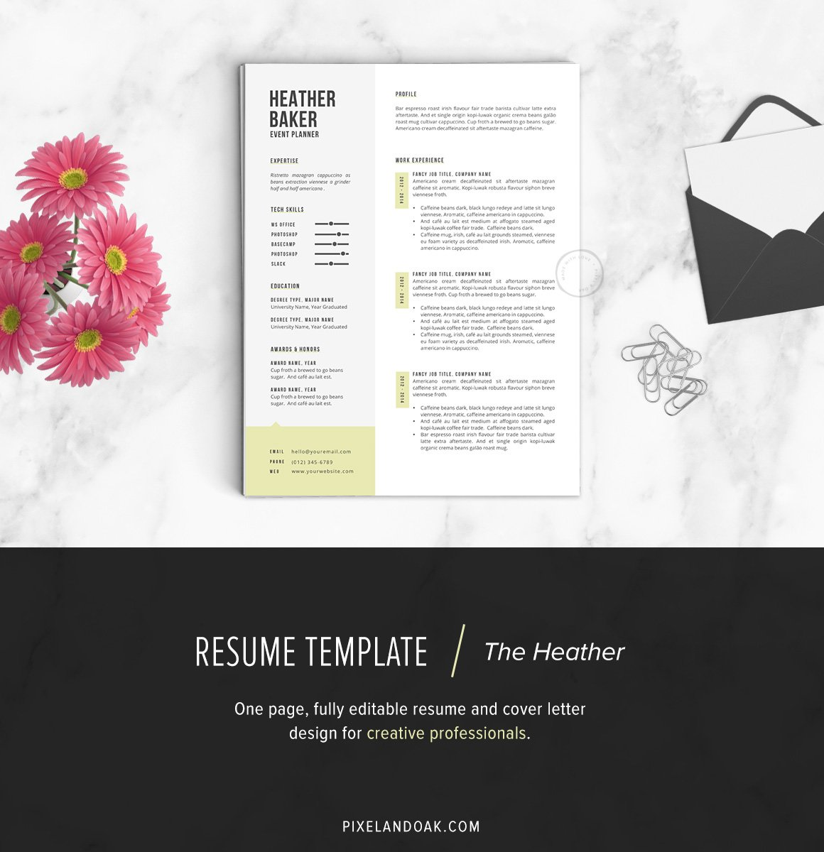 resume template the heather - Professional Resume Design Templates