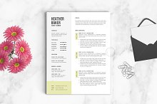 Resume Template | The Heather