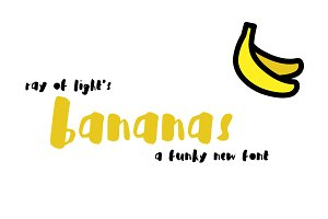 Bananas Brush Font