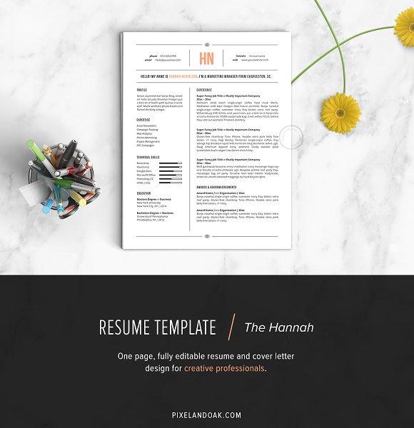 Resume Template | The Hannah