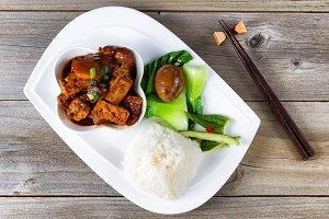 Chinese fried Tofu Dish