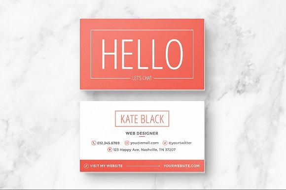Business Card Template Spark Business Card Templates Creative