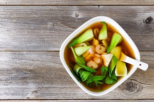 Chinese Soup with Veggies and Fish