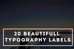 20 Typography Labels - 25% OFF
