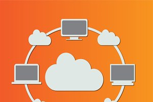 Cloud computing technology orange