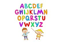 children learn letters ABC board