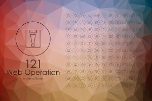 121 web operation line icons