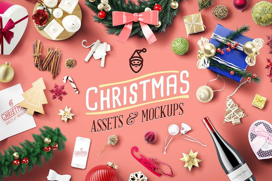 de8e263c1ee5 Christmas Assets   Mock Ups ~ Scene Creator Mockups ~ Creative Market