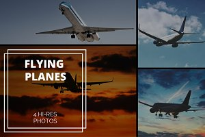 4 Flying Planes Photos