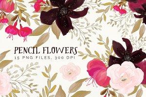 Pencil Flowers