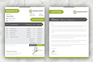 Creative Invoices + Cover Letter