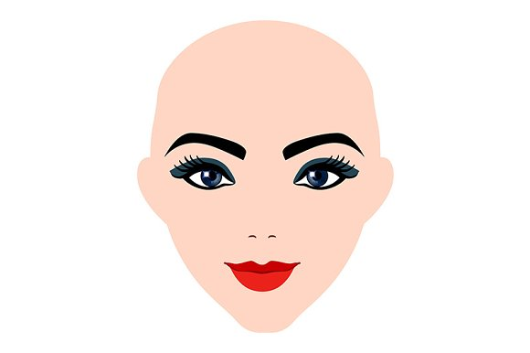 a woman's face. lips. eyes. makeup - Graphics