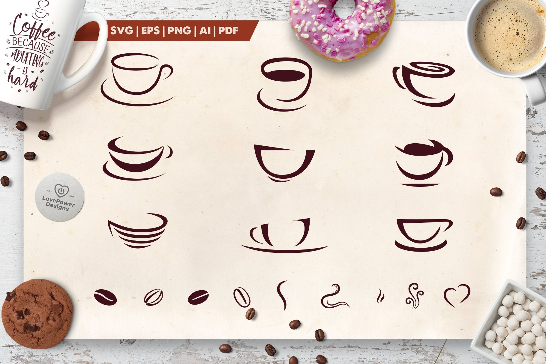 Coffee Cups For Logos Unique Illustrator Add Ons Creative Market