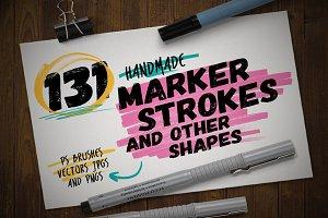 131 Handmade Marker Pen Strokes