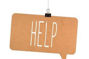 Help word on cardboard
