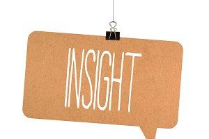Insight word on cardboard