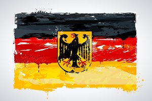 Grunge Germany Flag
