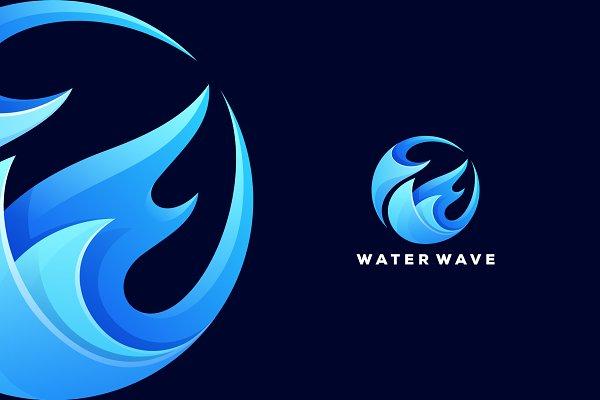 Aquascape Logo Creative Illustrator Templates Creative Market