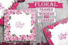 15 floral frames and borders