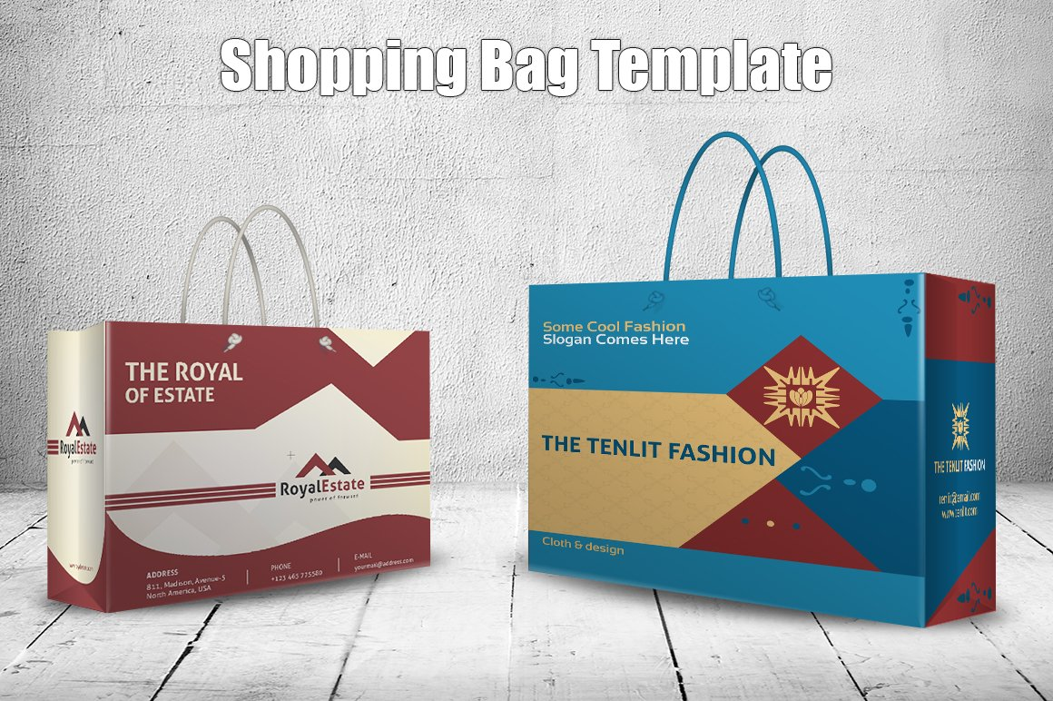 Shopping Bag Template ~ Stationery Templates ~ Creative Market