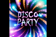 colorful lights salute. disco party