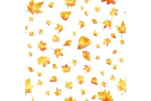 Seamless pattern colorful autumn