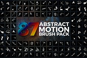 87 Abstract Motion Brush Pack