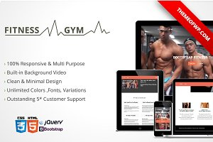 Fitness & Gym Bootstrap HTML