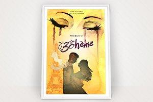 La Boheme Poster Graphic
