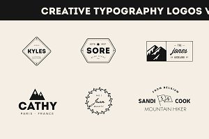 Creative Typography Logos - 25% OFF