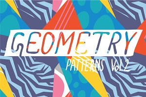 Colorful geometric pattern set #2