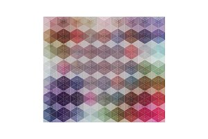 Vector Hexagon Color Grid Pattern