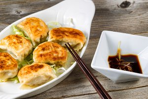 Chinese Dumplings and Dipping Sauce