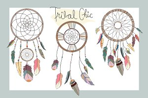 Dream Catchers Tribal Vector & PNG