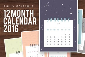 2016 - Calendar Template