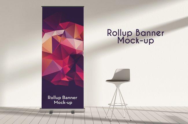 Rollup Banner Mock Ups Vol 05 Mockup Templates