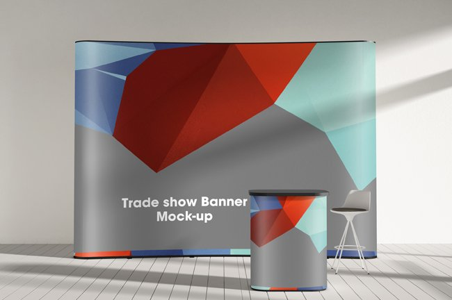 Mock Up Exhibition Stand Psd Free Download : Trade show display booth mock up vol product mockups
