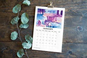 Watercolor Calendar 2016