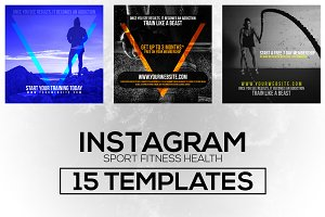 15 Instagram Templates vol.2: Sports