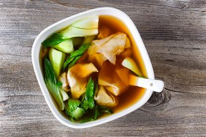 Wanton Soup and Veggies