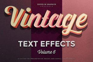 Vintage Text Effects Vol.6