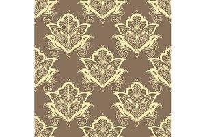 Contoured persian flowers vintage se