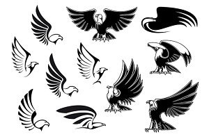 Eagles for logo, tattoo or heraldic