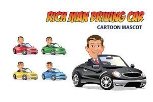 Rich Man Driving Car